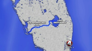Lake O surplus release into Caloosahatchee river