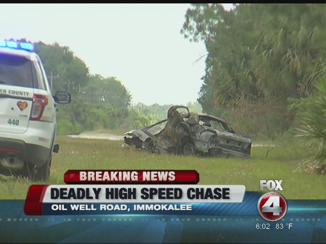 Collier car chase ends in fatal crash