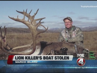 Lion hunter's boat stolen from Marco Island home