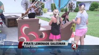 Pirate lemonade stand raises money for research