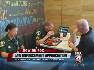 McDonald's shows appreciation for area LEO