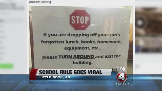 High school's viral sign turns away parents