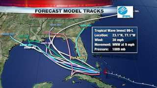 Tropical Disturbance Remains Weak & Disorganized