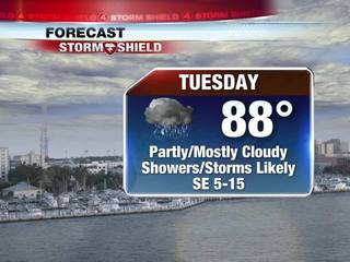 Tropical Downpours Expected Through Mid-Week