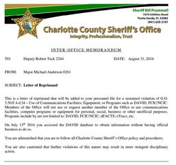 Deputy accused of posting man's personal info