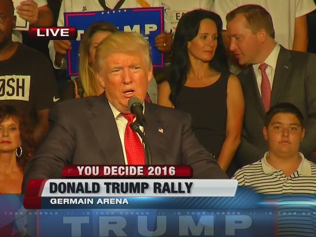 Donald Trump reads