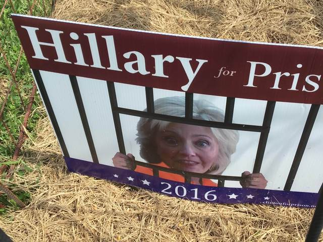 Story preview: Hillary in prison yard display