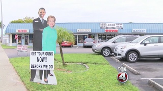 Obama-Clinton cut-out causes controversy
