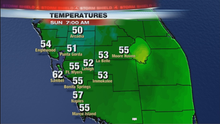 Temps In The 50s By Sunday Morning