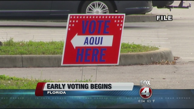 Early voting information for Southwest Florida