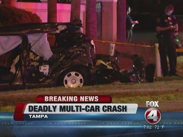 5 killed in multi-vehicle crash in Hillsborough County