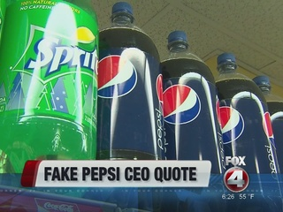 Some boycott Pepsi after CEO misquoted