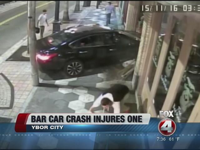 Caught on camera: Car hits pedestrian, crashes into Ybor