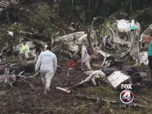 Families receive bodies from Colombia plane crash