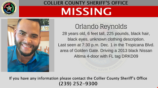 CCSO search for missing man