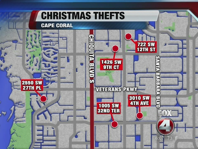 Thieves Target Cape Coral Homes For Laser Light Decorations