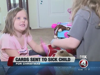 Girl fighting brain tumor gets Christmas cards