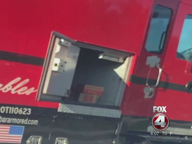 Fort Myers armored truck spills money