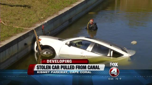 Stolen Car Recovered From Cape Coral