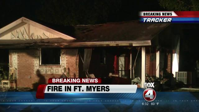 One injured i early morning house fire in Fort Myers