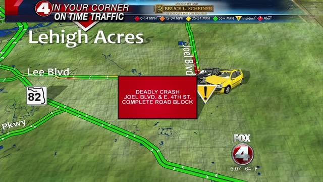 Fatal crash on Joel Boulevard in Lehigh Acres