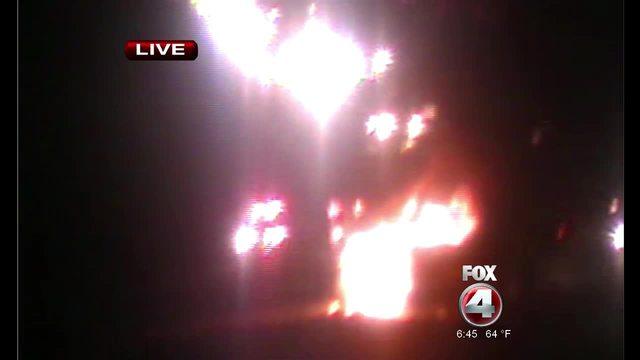 Vehicle fire on I-75 near Bonita Beach Road