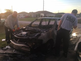 Two vehicles destroyed by fire in Cape driveway