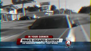 LSCO Inmate escapes at Lee Memorial Hospital