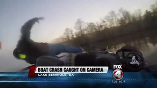 WATCH: Fishermen thrown from boat at 55 mph