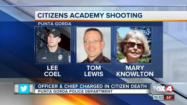 Officer, police chief charged in accidental shooting of Punta Gorda