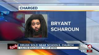 Man charged with dealing drugs near schools