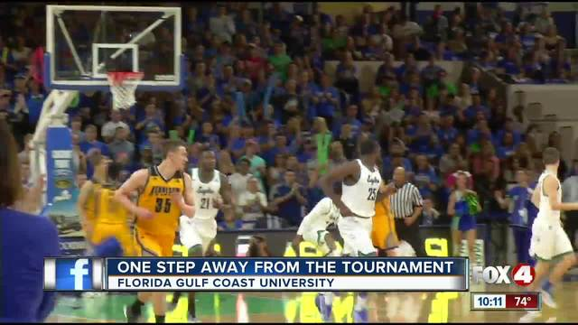 FGCU player dunked so hard that he temporarily broke the shot clock