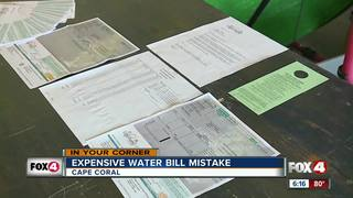 City admits $2,000 water bill was a mistake