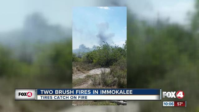 Two brush fires contained near Immiokalee