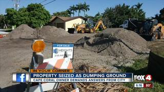 Cape Coral dumps dirt on private property
