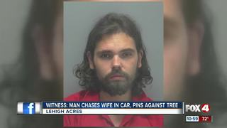 Husband accused of pinning wife to tree with SUV