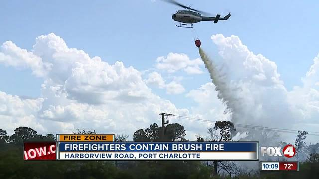Brush fire mostly under control in Port Charlotte