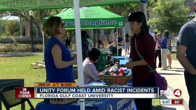 FGCU Unity Day calls for acceptance after hate graffiti incidents