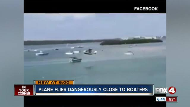 CAUGHT ON CAMERA- Small plane illegally flies dangerously close to boats…