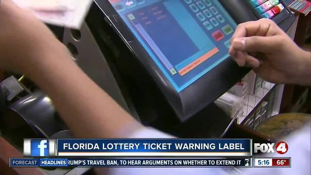 FL lawmakers consider warning for lottery