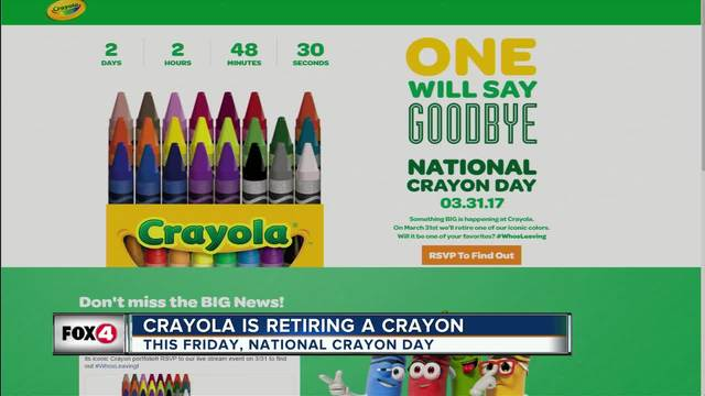Crayola dropping a color