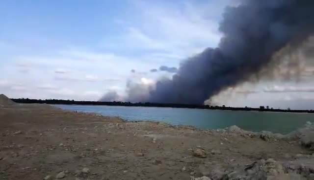 Large brush fire breaks out in Lakeland, Florida