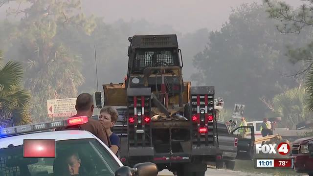 Florida Guard helping evacuate area threatened by brush fires