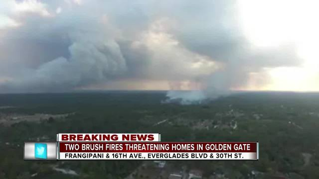 Large brush fire forces evacuation, threatens homes in Polk's Indian Lake Estates