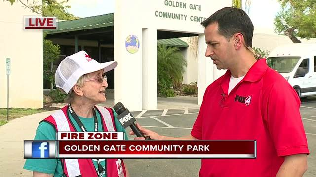 Reception Center open for fire evacuees in Collier County