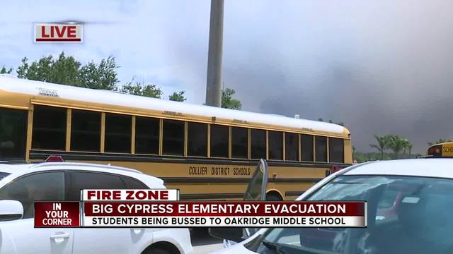 Evacuations under way at Big Cypress Elementary due to nearby fires