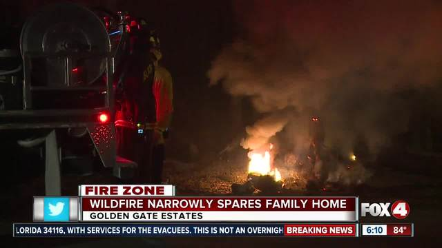 Family home in Golden Gate Estates spared by wildfires