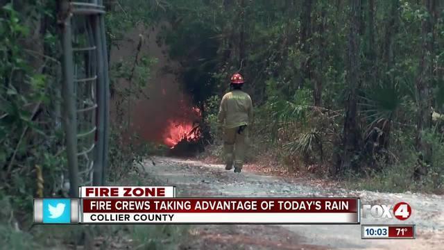 Fire Crews Taking advantage of Today-s Rain