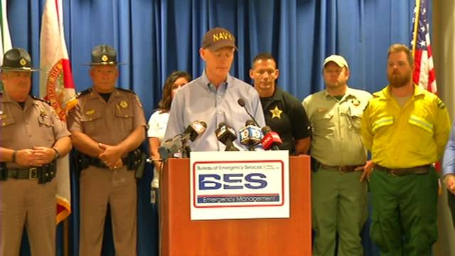 Governor Rick Scott provides briefing on Florida wildfires