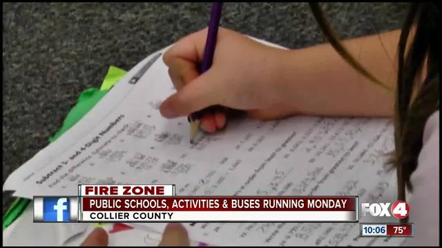 Public Schools in Collier County Remain open Monday